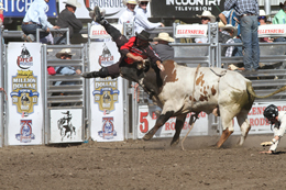 Double Truck image of PRCA bullfighter Donnie Griggs